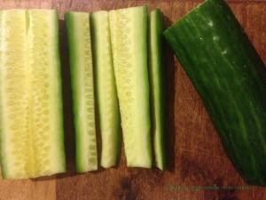 concombre etape