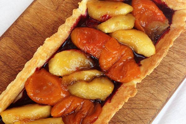 Ma Tarte Abricots Pommes Miel