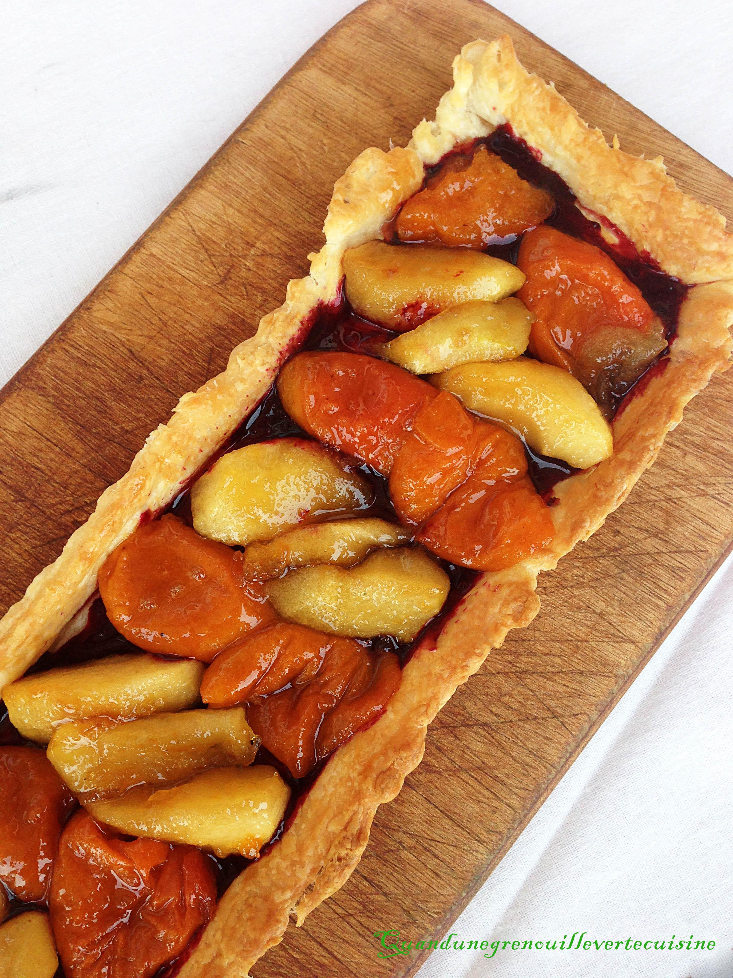 ma tarte abricots pommes miel quand une grenouille verte cuisine. Black Bedroom Furniture Sets. Home Design Ideas